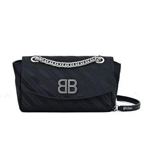 Balenciaga Chain BB Jacquard Logo Cross Body Bag